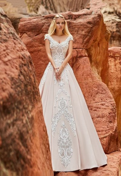 Aline ball gown wedding dress