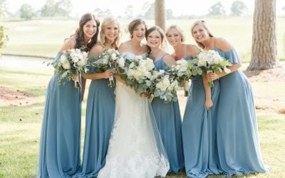 Slate Blue and Gold Country Club Wedding