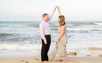 Danielle & Donnie Palm Coast Garden and Beach Engagement