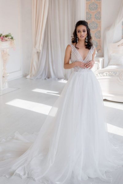 Wedding dress a-line organza