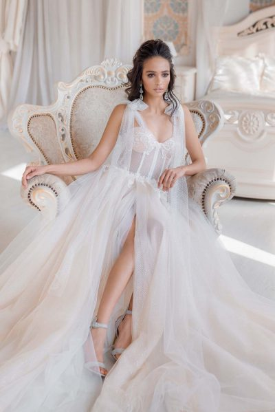 Sexy wedding dress tulle