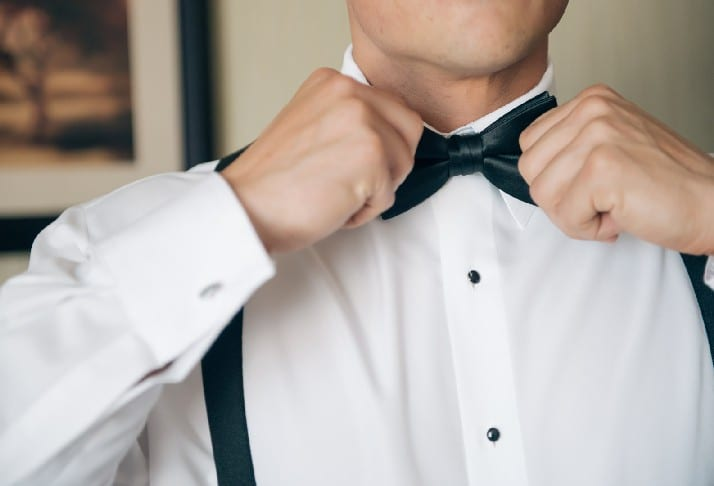 bow tie black tie tuxedo wedding