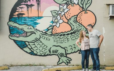 Sabrina and DanDowntown Murals + Lake Eola Engagement Session