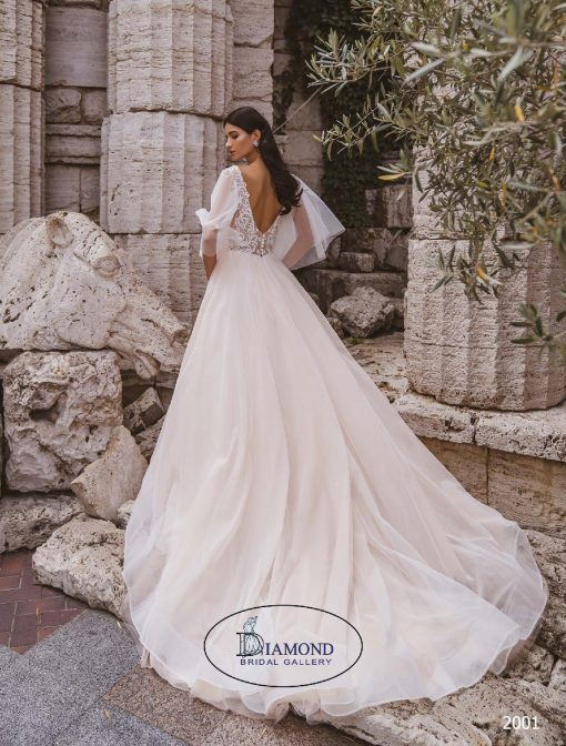aline tulle Wedding dress