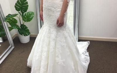 Wedding dress alterations before and after