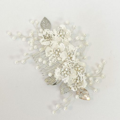 lace flowers and silver