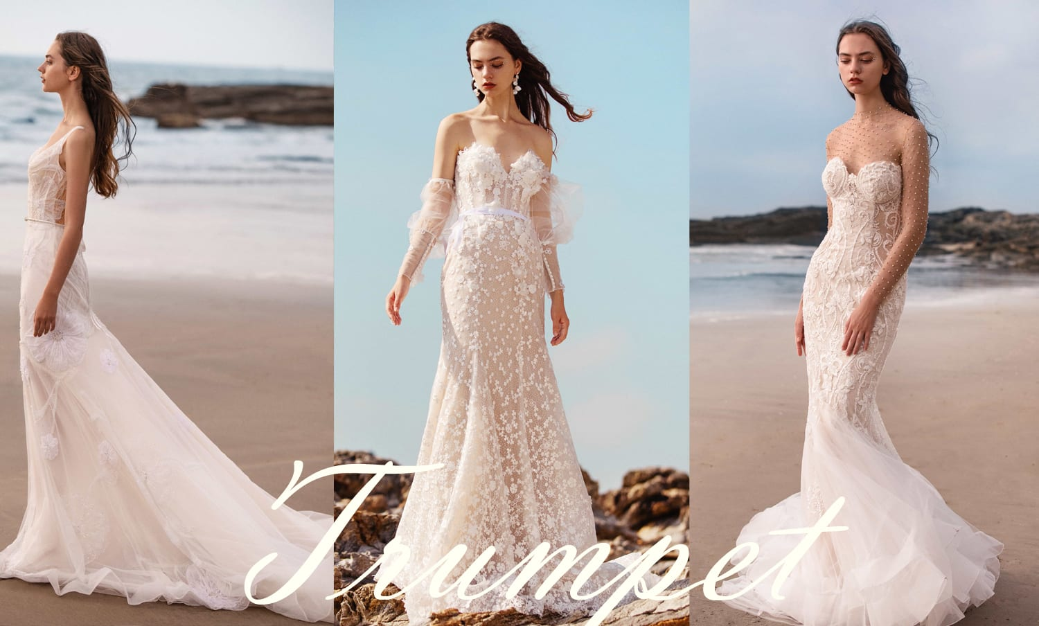 Trumpet or fit and flare wedding dresses